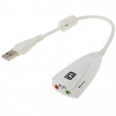 Carte son externe 5H V2 USB 7.1 Channel Sound (Blanc)