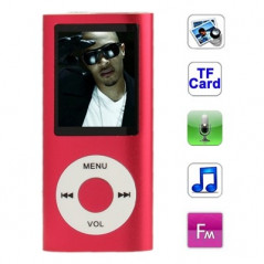 1.8 inch TFT Screen Metal MP4 Player with TF Card Slot, Support Recorder, FM Radio, E-Book and Calendar (Red)