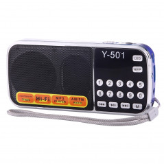 Radio FM AM portable, batterie rechargeable de Li-ion, lumière LED, supportent la carte micro de SD / USB / MP3