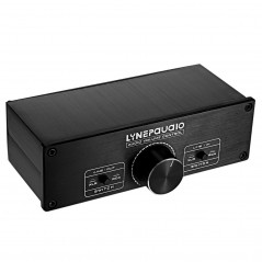 LINEPAUDIO A967 Full-balanced Passive PreAmp Active Speaker Two-channel Volume Controller(Black)