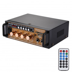 AK-698E HiFi Stereo Audio Power Amplifier 180W + 180W Digital Player with Remote Control, Support FM / SD / MP3 Player / USB, AC