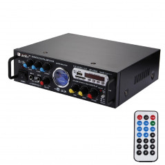 AV-339A 2CH HiFi Stereo Audio Amplifier with Remote Control, Support FM / SD / MP3 Player / USB / Display / Meter Indicator, AC