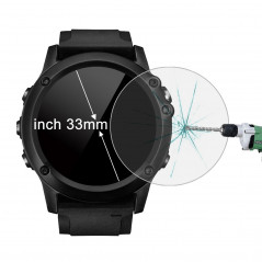 ENKAY Hat-Prince for 33mm Diameter Circular Dial Smart Watch 0.2mm 9H Surface Hardness 2.15D Curved Explosion-proof Tempered Gla