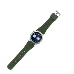 For Samsung Gear S3 Classic Smart Watch Silicone Watchband, Length: about 22.4cm(Army Green)