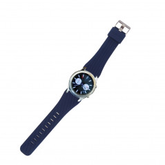For Samsung Gear S3 Classic Smart Watch Silicone Watchband, Length: about 22.4cm(Dark Blue)