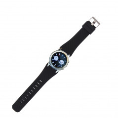 For Samsung Gear S3 Classic Smart Watch Silicone Watchband, Length: about 22.4cm(Black)