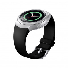 For Samsung Gear S2 Watch Solid Color Silicone Watchband(Black)