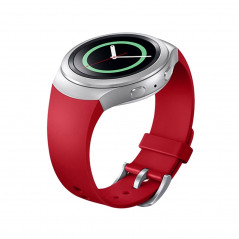 For Samsung Gear S2 Watch Solid Color Silicone Watchband(Red)