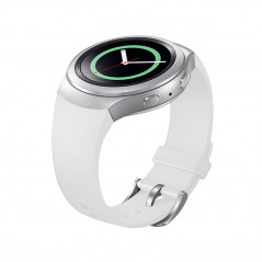 For Samsung Gear S2 Watch Solid Color Silicone Watchband(White)