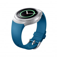 For Samsung Gear S2 Watch Solid Color Silicone Watchband(Blue)