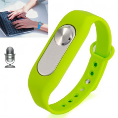 WR-06 Wearable Wristband 8GB Digital Voice Recorder Wrist Watch, One Button Long Time Recording(Green)
