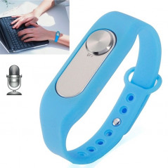 WR-06 Wearable Wristband 8GB Digital Voice Recorder Wrist Watch, One Button Long Time Recording(Blue)