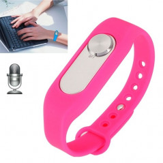 WR-06 Wearable Wristband 8GB Digital Voice Recorder Wrist Watch, One Button Long Time Recording(Magenta)
