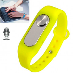 Wearable Wristband 4GB Digital Voice Recorder Wrist Watch, One Button Long Time Recording(Yellow)