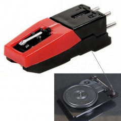 Stereo stylus Needle for Vinyl LP USB Turntable Turnplate(Black)