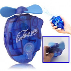 Mini Water Spray Fan with Powerful Safe Fan Blades, Size: About 109 x 73 x 27mm(Blue)