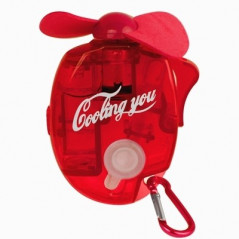 Mini Water Spray Fan with Powerful Safe Fan Blades, Size: About 109 x 73 x 27mm(Red)