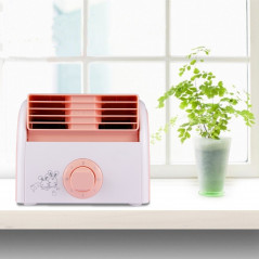 30W Turbine No Blade Mini Desktop Mute Fan for Dormitory / Bedroom / Living Room / Office, 3 Kinds Speed Mode, AC 220V(Pink)