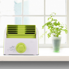 30W Turbine No Blade Mini Desktop Mute Fan for Dormitory / Bedroom / Living Room / Office, 3 Kinds Speed Modes, AC 220V(Green)