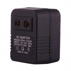 110V to 220V 50W AC Power Socket Adapter, EU/US Plug to US Plug(Black)