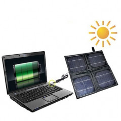 Portable 4 x 2.5 W Solar Panel-Multi-Functional Battery chargers, it can Charge PC with DC Plug