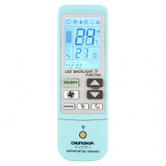 K-209ES Universal Air Conditioner Remote Control, Support Thermometer Function(Blue)