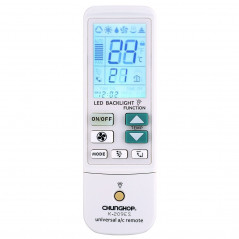K-209ES Universal Air Conditioner Remote Control, Support Thermometer Function(White)