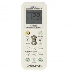 Chunghop K-1028E 1000 in 1 Universal A/C Remote Controller with Flashlight(White)