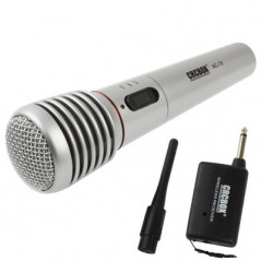 Handheld Wireless / Wired Microphone with Receiver & Antenna, Effective Distance: 15-30m