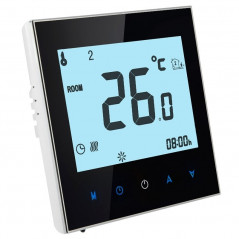Floor Heating / Water Heating System LCD Display Programmable Room Thermostat(Black)