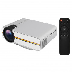 YG400 1.5-3m 50-100 inch LED Projector HD Home Theater with Remote Controller, Support HDMI, VGA, AV, SD, USB
