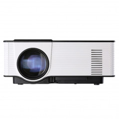 Mini projecteur 1500ANSI LM LED 800x480 WVGA, Support VGA / HDMI / USB / Carte SD / AV (Blanc)