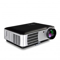 RD-806 2800LM 1280x800 Home Theater LED Projector with Remote Controller, Support HDMI, VGA, AV, TV, USB Interfaces (Black)