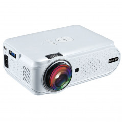 Uhappy U90 1500LM 800*480 Home Theater LED Projector with Remote Control , Support USB + VGA + SD + HDMI + AV + TV (White)