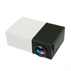 YG300 400LM Portable Mini Home Theater LED Projector with Remote Controller, Support HDMI, AV, SD, USB Interfaces(Black)