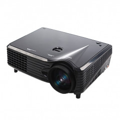Mini Projecteur LED VGA 2000 Lumens, Interfaces VGA / HDMI / USB (Noir)