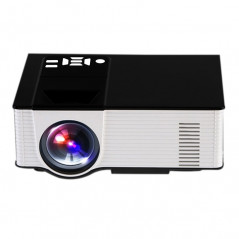 Projecteur Portable 1500 Lumens, Android 4.4, Quad-Core, 1 Go de DDR3, 8 Go NAND FLASH (noir/blanc)