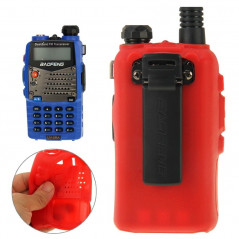 Pure Color Silicone Case for UV-5R Series Walkie Talkies(Red)