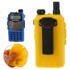 Pure Color Silicone Case for UV-5R Series Walkie Talkies(Yellow)
