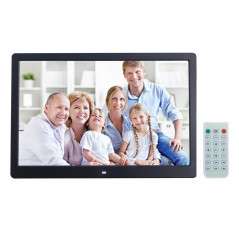 15 inch Digital Picture Frame with Remote Control Support SD / MMC / MS Card and USB , Black