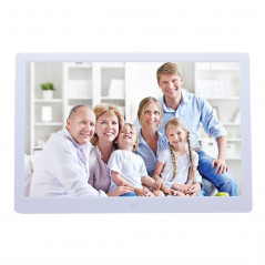 13 inch LED Display Digital Photo Frame with Holder & Remote Control, Allwinner F16, Support SD / MS / MMC Card and USB(White)