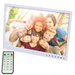 15.0 inch LED Display Digital Photo Frame with Holder / Remote Control, Allwinner, Support USB / SD Card Input / OTG(White)