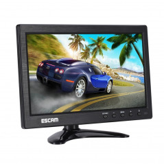 ESCAM T10 10.0 inch TFT LCD 1024x600 Monitor with VGA & HDMI & AV & BNC & USB for PC CCTV Security