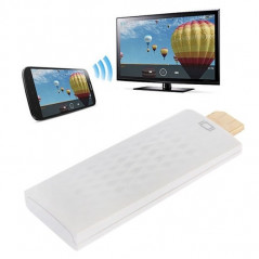 Wireless HDMI Miracast DLNA Display Dongle, CPU: ARM Cortex A9 Single Core 1.2GHz, Support WIFI + HDMI(White)