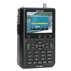 SATLINK WS6906 3.5 inch LCD Colour Screen Portable Digital Satellite Finder Meter(Black)