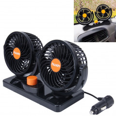Double ventilateurs de voiture 6.5W rotation 360° silencieux - Câble 2m allume cigare DC 12V Car FAN - 1