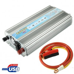 2000W DC 12V to AC 220V Car Power Inverter with USB Port & Booster Cable