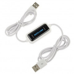 High Speed USB 2.0 Data Link Cable, PC to PC Data Share, Plug and Play, Length: 165cm
