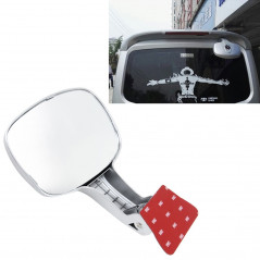 Car Rear Seat Rearview Mirror Back Row Rear View Mirror Children Observed Interior Mirror(Silver)