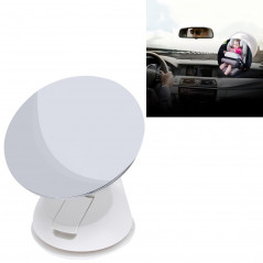 Car Auto 360 Degree Adjustable Baby View Mirror Rear Baby Safety Convex Mirror, Diameter: 85mm(White)